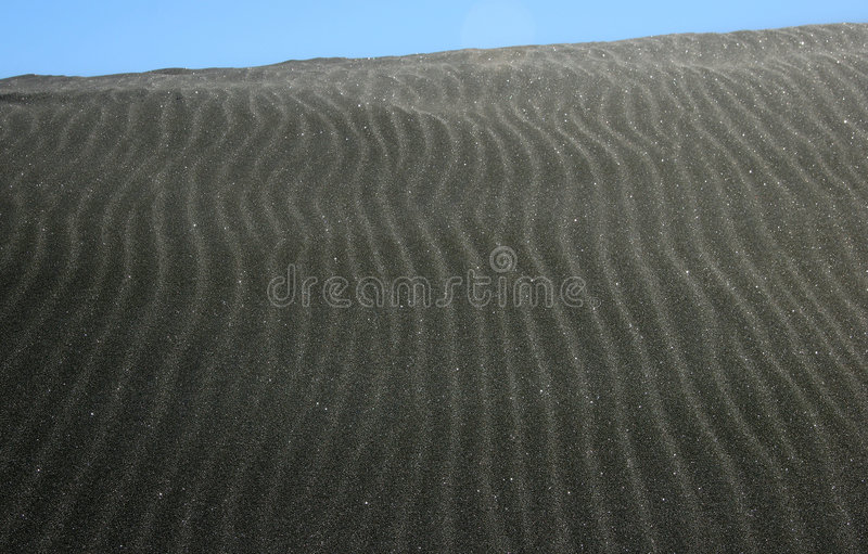 czarny piasek wydm fotografia stock