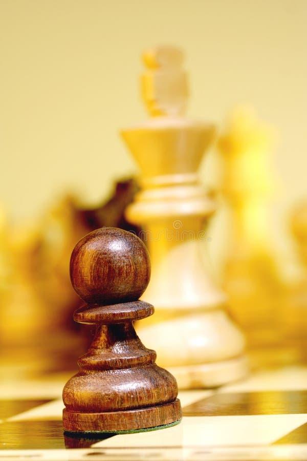 czarny pionek zdjęcie royalty free