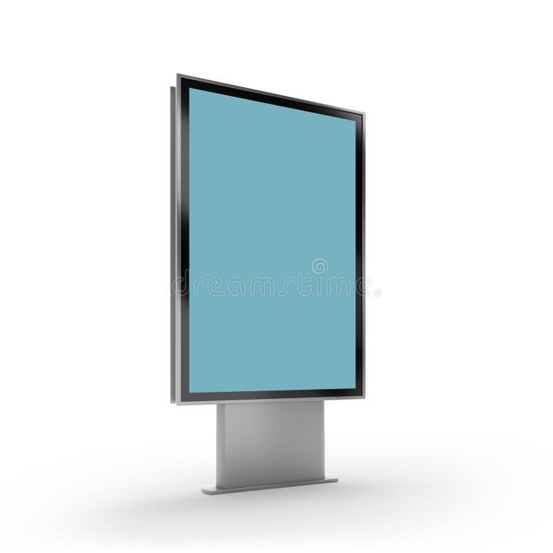 Czarny pionowo obracający monitoru mockup bielu tło royalty ilustracja
