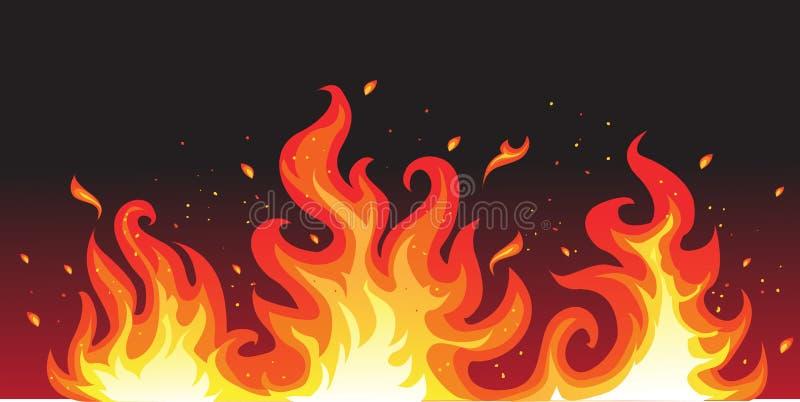 czarny pożarniczy gorący ilustracja wektor