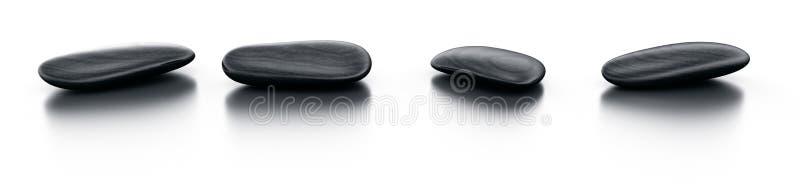 czarny podłogowi odbijający kamienie ilustracja wektor