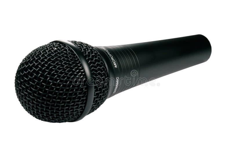czarny pojedynczy mikrofonu zdjęcie stock
