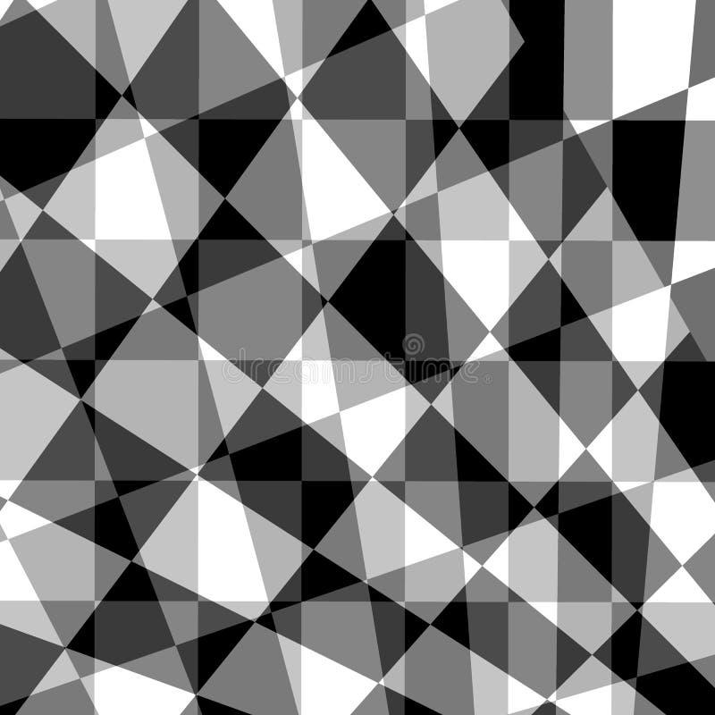 Czarny popielatego bielu abstrakcjonistyczny geometryczny tło ilustracja wektor