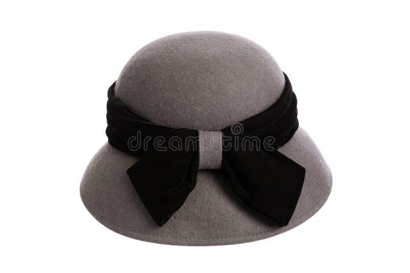 czarny popielaty kapeluszowy faborek fotografia royalty free
