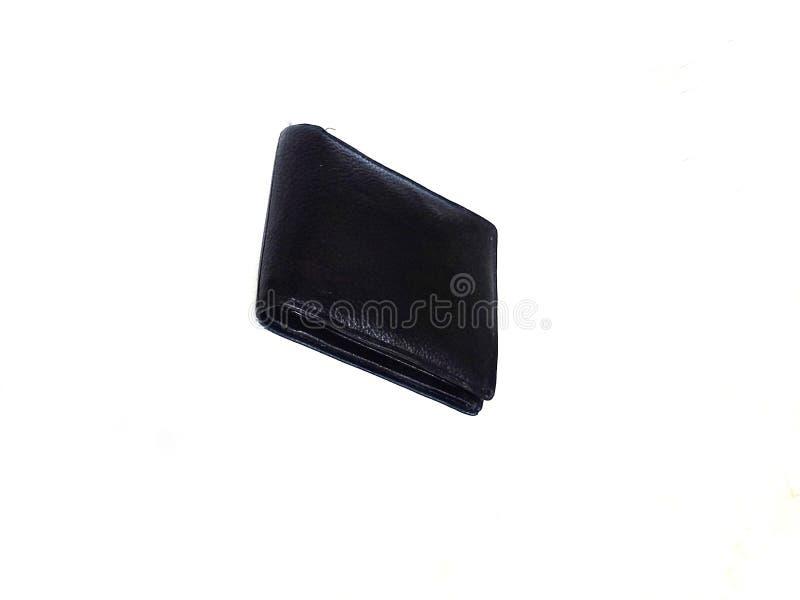 Czarny portfel obraz stock