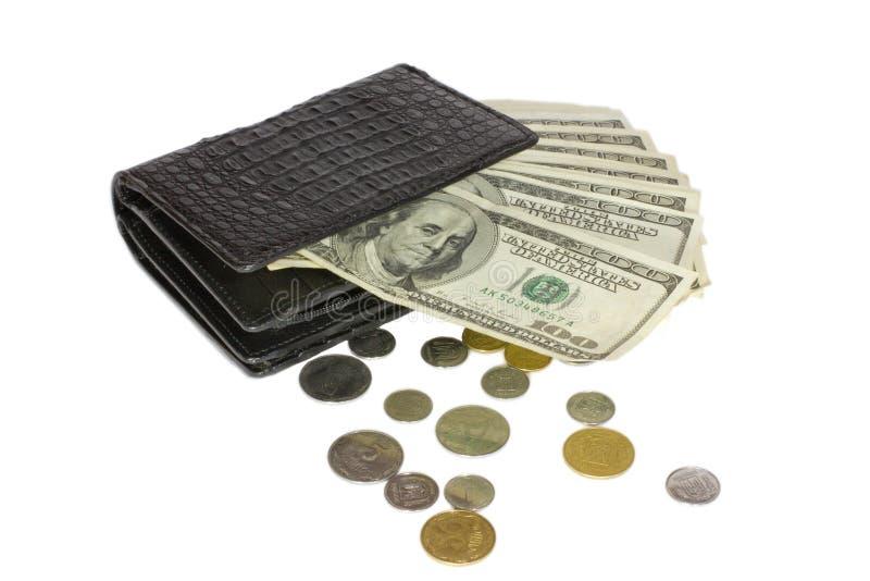 czarny portfel zdjęcie stock