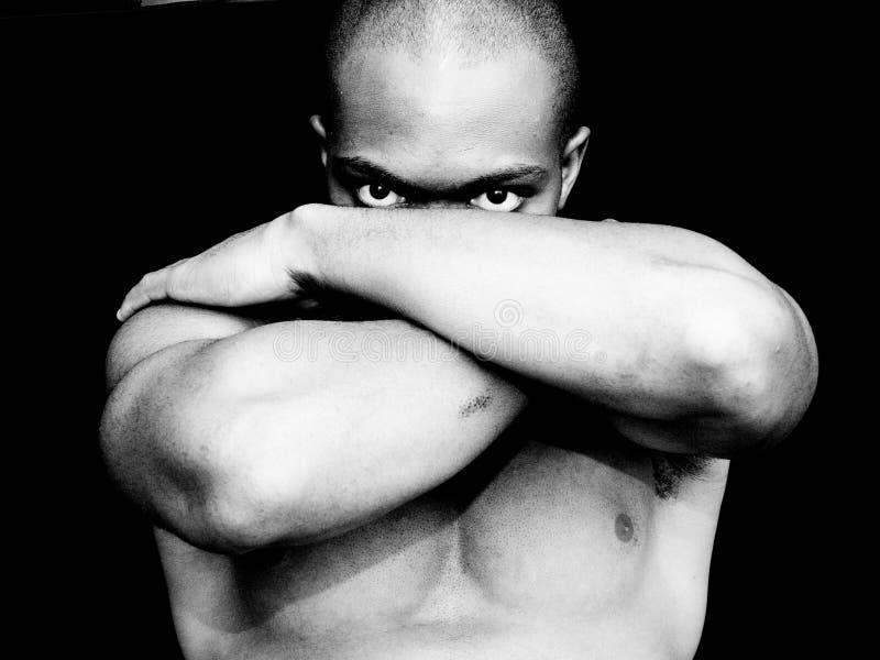 czarny portret white obraz stock