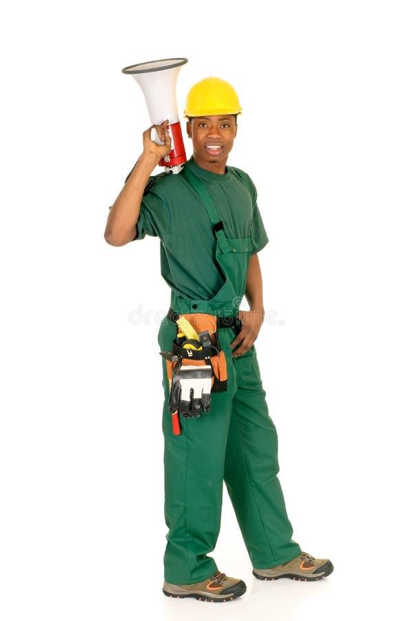 czarny pracownik budowlany zdjęcie royalty free