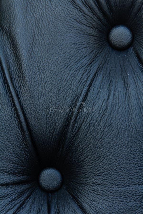 Czarny prawdziwej skóry kanapy wzór zdjęcia royalty free