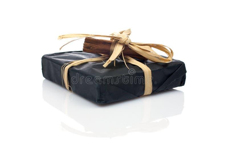czarny prezent obraz royalty free