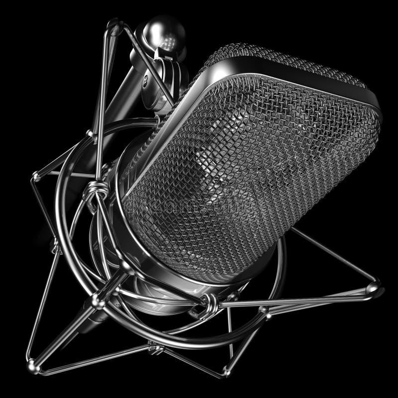 czarny profesjonalista mikrofonu obraz royalty free