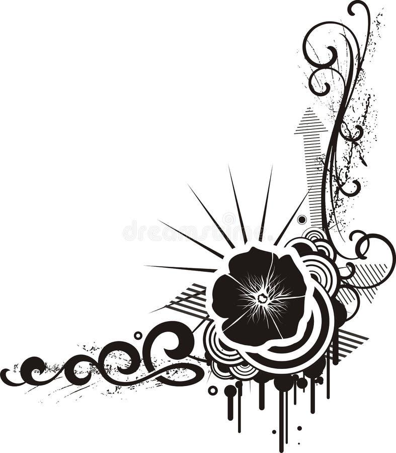 czarny projekt white kwiecistego ilustracji