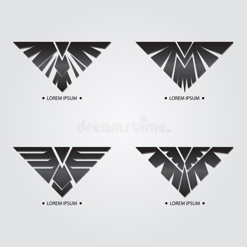 Czarny ptak royalty ilustracja