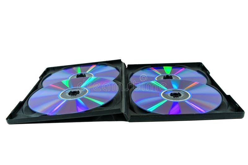 czarny pudełka cd cztery rom fotografia stock