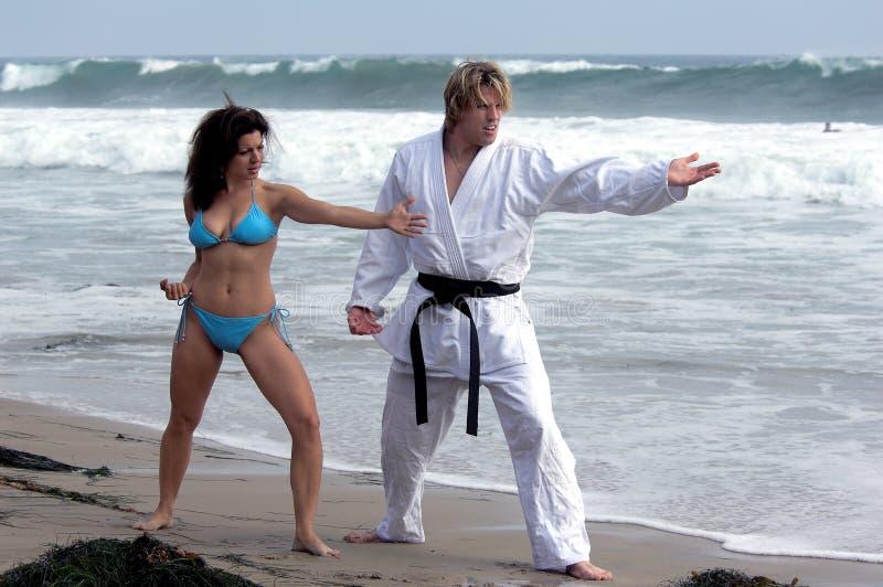 czarny punkt na plaży fotografia royalty free