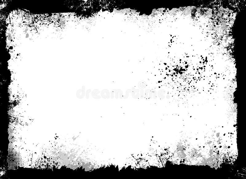 czarny ramowy grunge royalty ilustracja