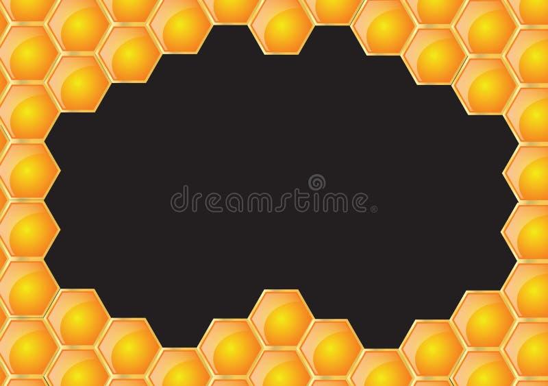 czarny ramowy honeycomb ilustracji