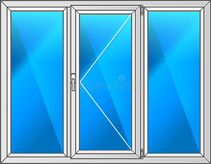 czarny ramowy ilustracyjny klingerytu wektoru okno zdjęcie royalty free