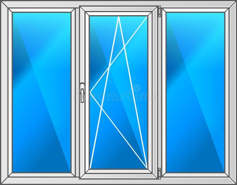 czarny ramowy ilustracyjny klingerytu wektoru okno zdjęcia stock