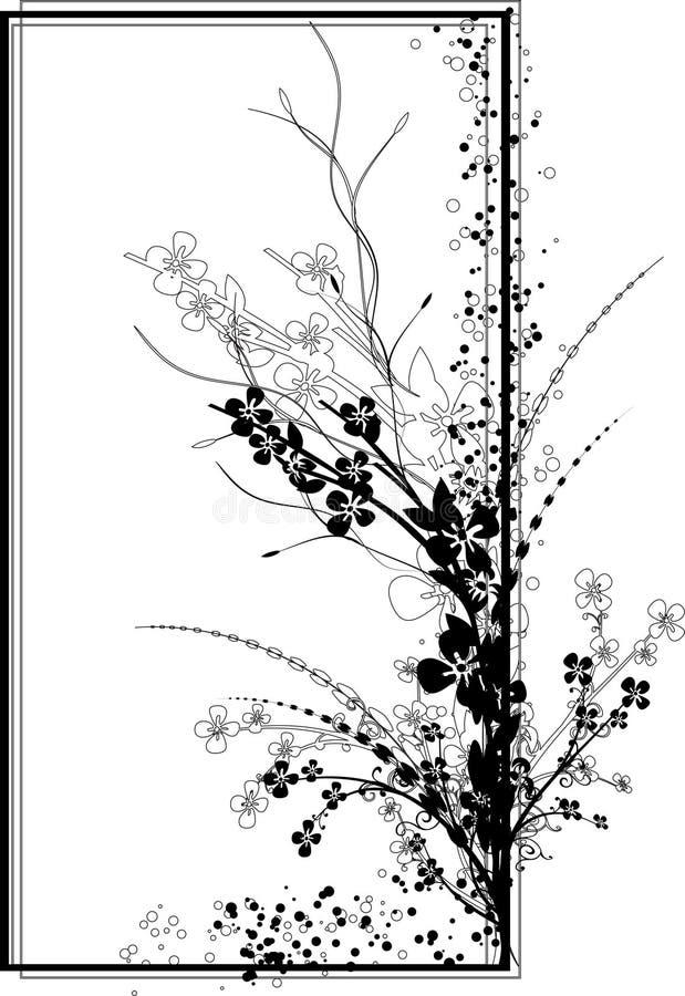 czarny ramowy prostokątny biel royalty ilustracja