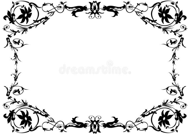 czarny ramowy white ornamentacyjny ilustracja wektor