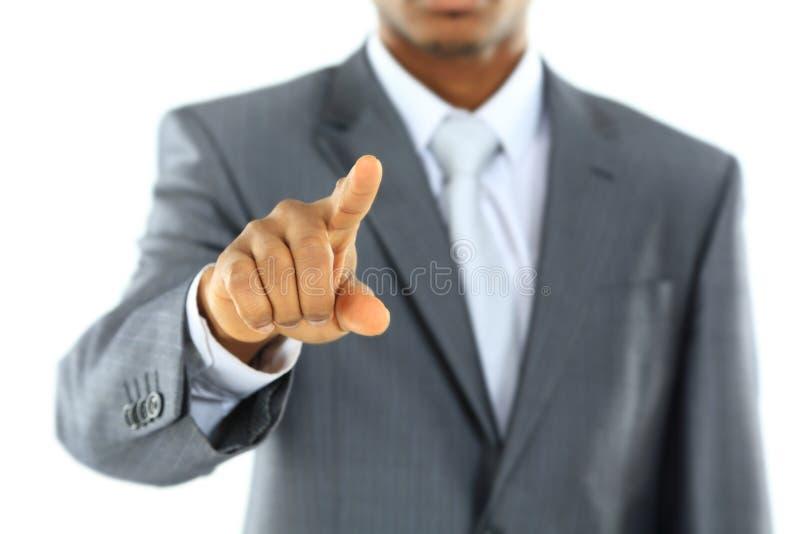 Czarny rekrutacyjny pojęcie z afrykańskim biznesmenem fotografia stock