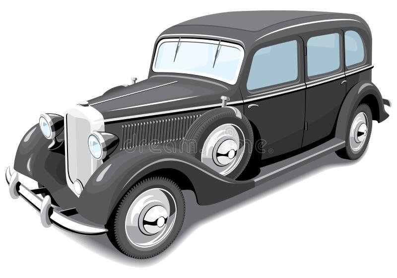 Czarny Retro Samochód Obrazy Royalty Free