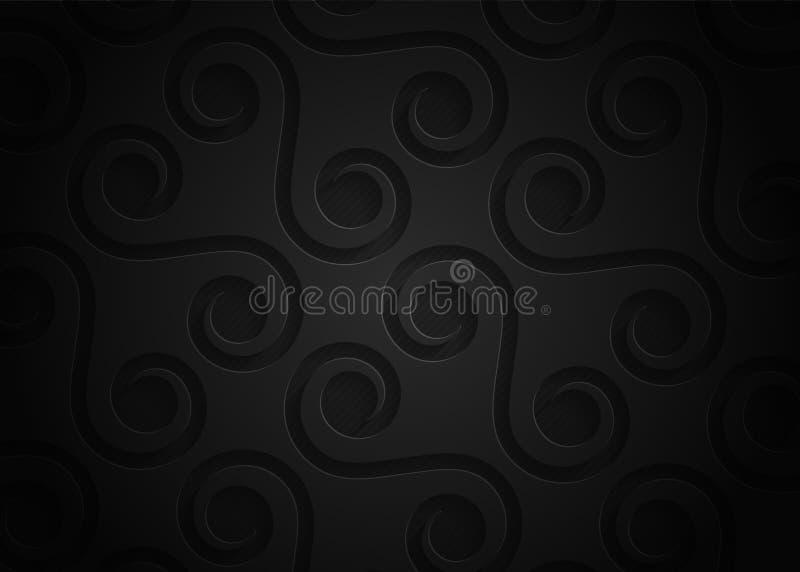 Czarny rocznika papieru wzór, abstrakcjonistyczny tło dla strony internetowej, sztandar, wizytówka, zaproszenie ilustracji