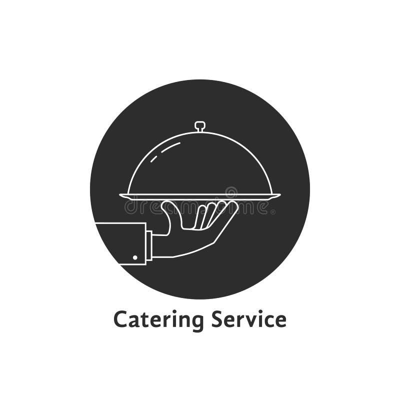 Czarny round catering usługa logo ilustracja wektor