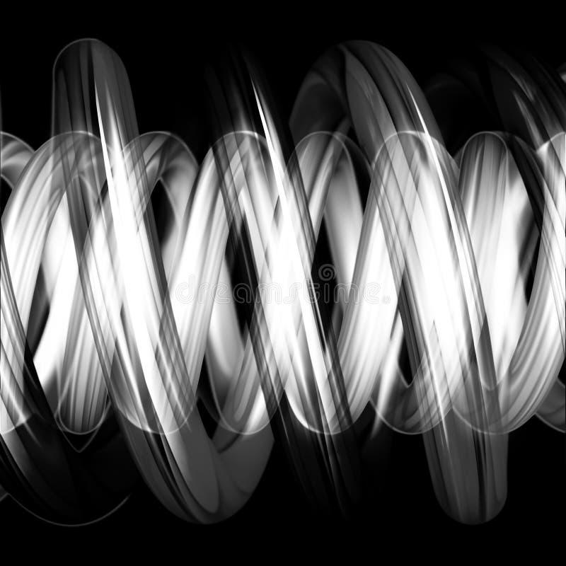 czarny rury wymknęły się biały ilustracja wektor