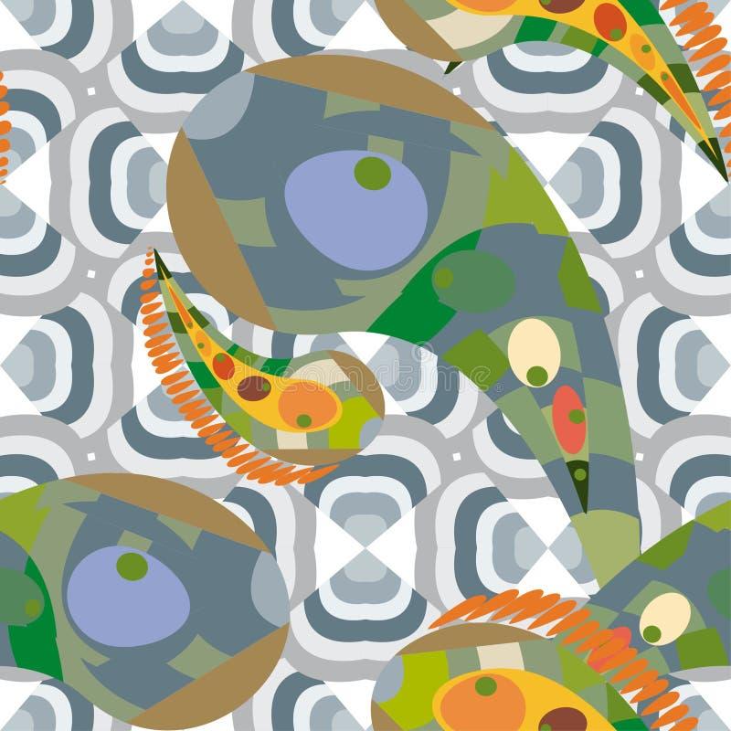 czarny rybi morze ilustracja wektor
