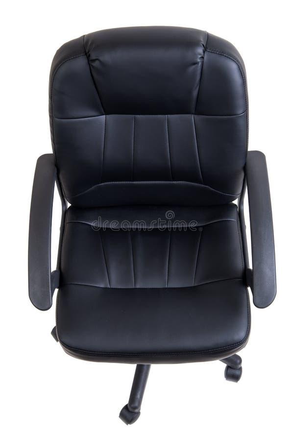 Download Czarny Rzemienny Biurowy Krzesło Odizolowywający Obraz Stock - Obraz złożonej z nastawczy, rękojeść: 53793539