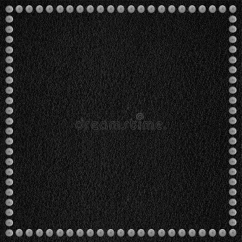 Czarny rzemienny tło zdjęcia royalty free
