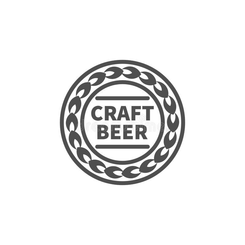 Czarny rzemiosła piwa znak ilustracja wektor