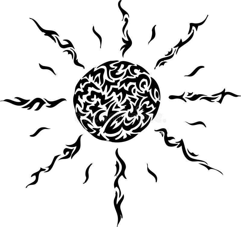 czarny słońce ilustracja wektor