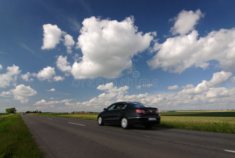czarny samochód zdjęcia stock