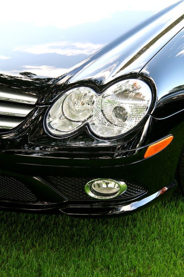 czarny samochód egzotyczne sportu obrazy royalty free