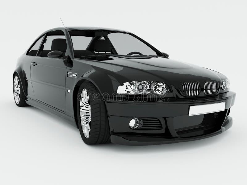 czarny samochód odizolowywający sport royalty ilustracja
