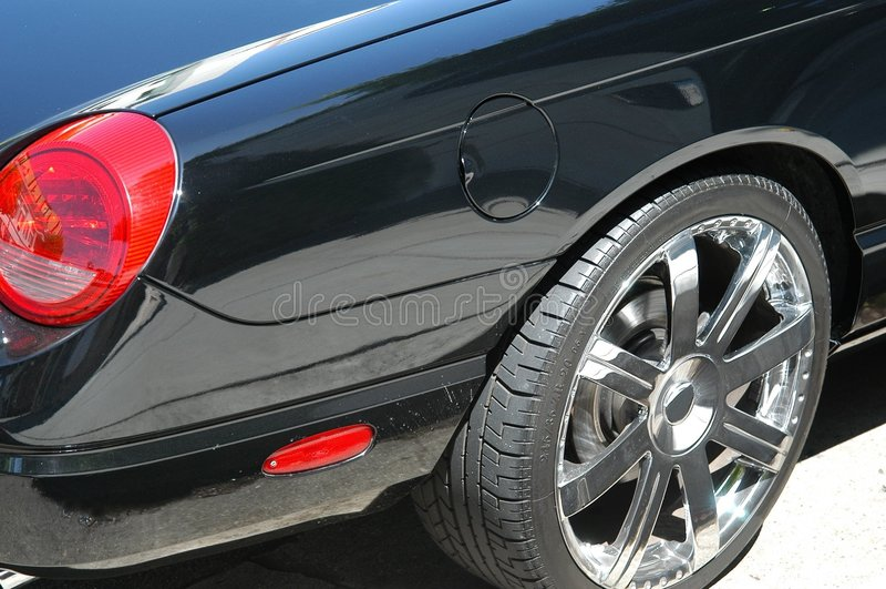 czarny samochód szczegół obraz stock