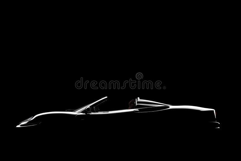 czarny samochodowy lateral ilustracja wektor