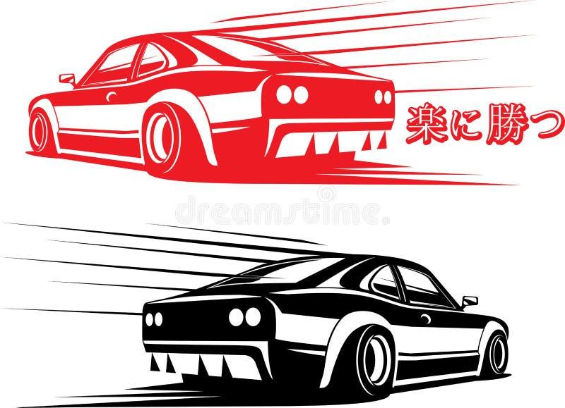 czarny samochodowy sport ilustracji