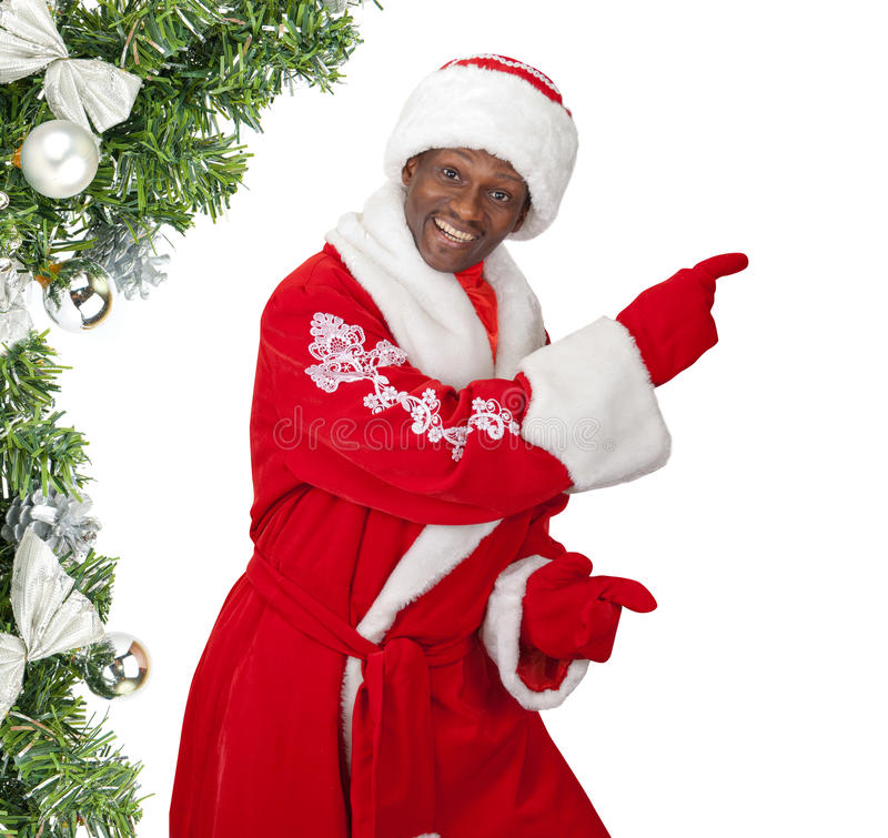 Czarny Santa obrazy stock
