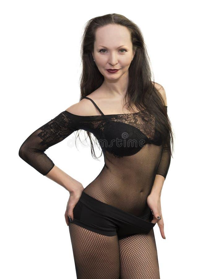 czarny seksowni bielizny kobiety potomstwa obrazy stock