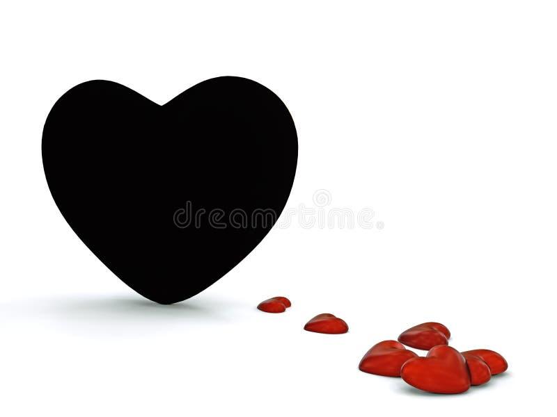 czarny serce zdjęcia stock