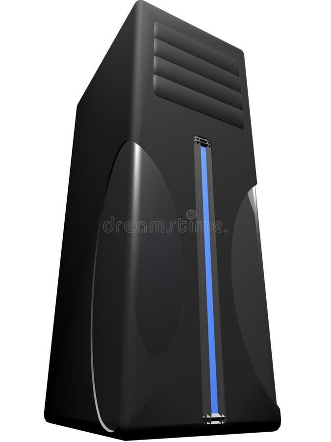 czarny serwer royalty ilustracja