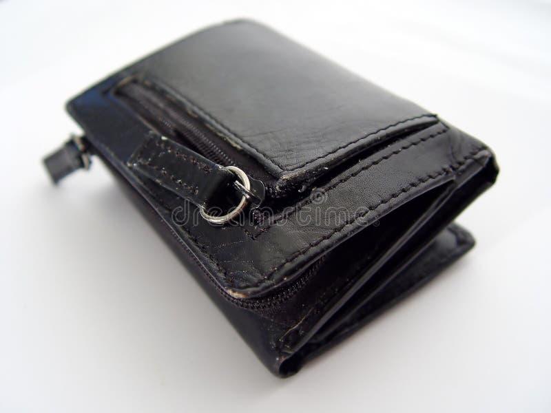 Czarny skórzany portfel.