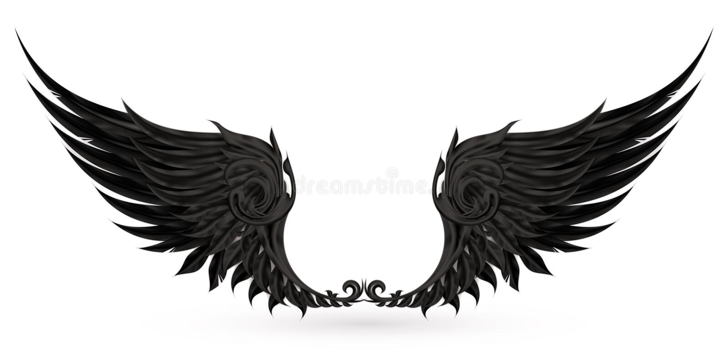 czarny skrzydła royalty ilustracja