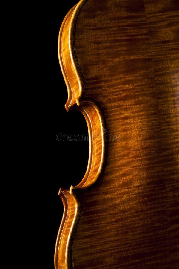 czarny skrzypce obraz stock