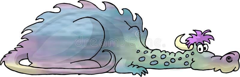 czarny smok wielo- ilustracja wektor