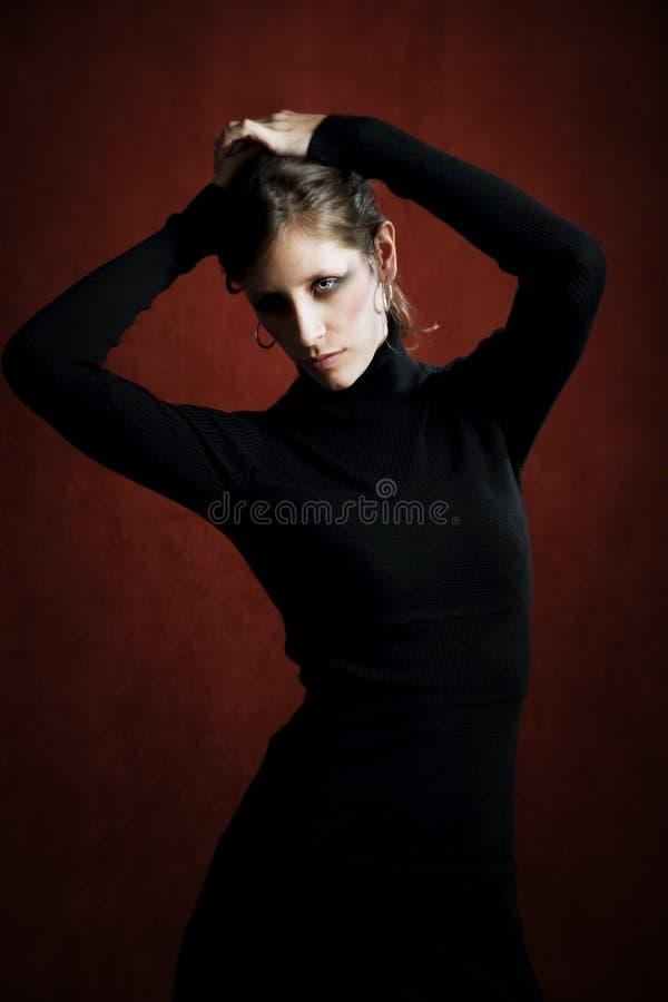 czarny smokingowa ładna kobieta obrazy royalty free